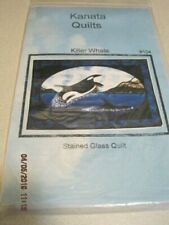 KILLER WHALE Kanata Quilts Sewing Pattern Stained Glass Quilt UNCUT #104