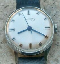 EBERHARD - FINE VINTAGE ROUND WATCH -MANUAL  - ALL STAINLESS. STEEL - SWISS