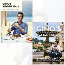 Gino D'Acampo Gino's Italian Escape and Gino's Hidden Italy 2 Books Collection