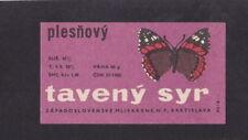 Ancienne petite étiquette Fromage Tchécoslovaquie BN34430 Papillon