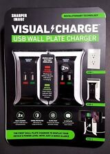 Sharper Image Visual Charge USB Wall Ultra Fast Charger 2 pack Phones Tablets
