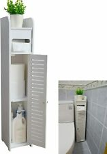 Aojezor Small Bathroom Storage Corner Floor Cabinet With Door And Shelves Vanity