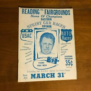 1967 USAC Sprint Car Races Program READING FAIRGROUNDS  OPENER