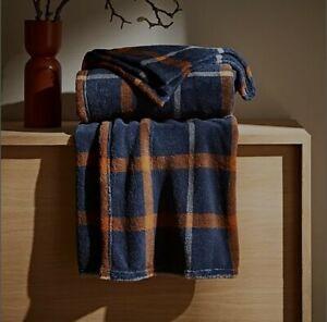 Dunelm Check Fleece Blanket Throw Brand New Christmas Novelty