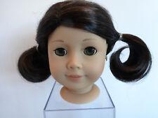 AMERICAN GIRL DOLL HEAD - LIGHT SKIN - LG DK BROWN HAIR - HAZEL EYES - EARRINGS