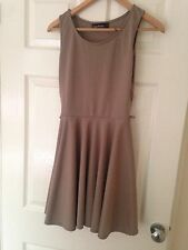 Brown Skater Dress (size 10 from boohoo.com)