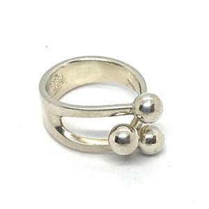 Vintage Anna Greta Eker Norway Sterling Silver Ring Sz. 7. Lot167.