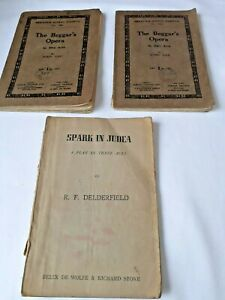 Bundle of Vintage Plays, 2 copies of The Beggar's Opera and 1 Sparks of Judea