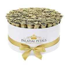 24k Gold Roses Long Lasting Preserved Floral Arrangement Flower Bouquet Gift