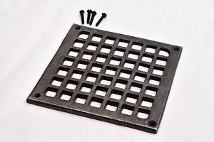 A fantastic square cast iron Victorian style grill vent cover SB1