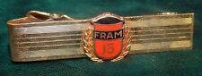Vtg Enamel Fram Air Oil Filters 15 yr Service 14k Gold Pin Tie Bar Clip Clasp