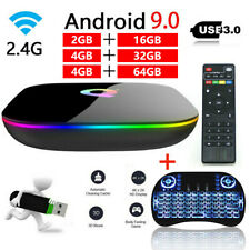 Q-BOX Q+ Q Plus Quad Core 4GB 64GB Amlogic Android 9.0 WIFI Smart TV BOX