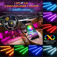 48 Led Car Charge Interior Accessories Floor Decorative Atmosphere Light Lamping