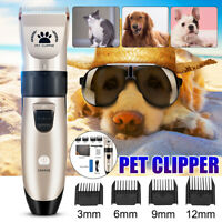 Low Noise Cordless Electric Dog Cat Grooming Trimming Pet Shave Clipper Hair Kit