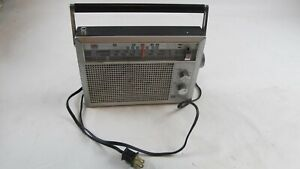 VINTAGE NOS GE 7-2940 FM/AM/TV SOUND PORTABLE RADIO WITH WEATHER BAND