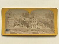 Parigi Vista Di La Senna Foto Stereo Vintage Albumina c1870