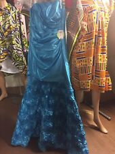 Beautiful Evening/Prom/ Special Occasion Mamaid Dress Turquoise Blue Sz 7 $189