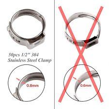 "50PCS Universal 1/2"" Stainless Steel Ear PEX Clamp Cinch Rings Crimp Pinch PEX"