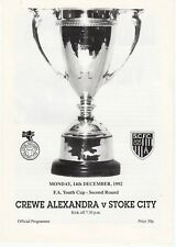 Crewe Alexandra Youth v Stoke City Youth 1992/3 FA Youth Cup