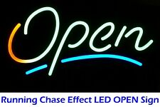 Brightest Animated Signature Open Sign Led Neon for Retail Storefront Display
