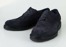 New ERMENEGILDO ZEGNA Blue Suede Oxford Casual Shoes Size 9 US 42 EU $595