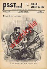 Psst..! n°58 - 11/03/1899 affaire Dreyfus Caran d'Ache Forain Justice Anarchiste