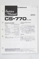 PIONEER CS-770 Original Speaker System Service-Manual/Anleitung/Schaltplan! o68