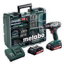 Metabo BS18 Akku-Bohrschrauber SET mit 2x 18V 2,0 Ah + Lader + Mobile Werkstatt