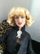 "Tonner 16""Vinyl DOLL MARILYN MONROE in ANIMAL MAGNETISM Ensemble & Stand"