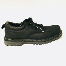 Skechers Black Oxford Lugs Leather Lace Up Low Top Shoes Men's Size 11