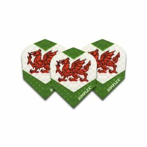 10 x 3 Sets Wales / Welsh Dragon Flag Dimplex Darts Flights (9) Standard Shape