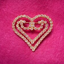 with Inset Crystals New Valentine Heart Pin