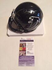 Tony Casillas Autographed Atlanta Falcons Mini Helmet JSA Witnessed COA