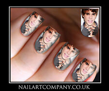 Nail Art Decals Justin Bieber Music Transfers Stickers Wraps Foils Manicure X 32