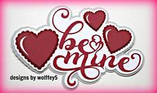 CRAFTECAFE LOVE TITLE paper piecing premade scrapbook page piece diecut WOLFFEY5