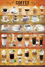 THE COFFEE POSTER 27 Classic Cafe Drinks POSTER For Restaurant Coffee Shop, Home