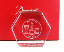 BACCARAT FRANCE PAPERWEIGHT OR DISPLAY CLEAR CRYSTAL SIGNED VINTAGE FRANCE BOX