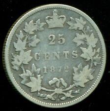 1872H Canada 25 Cent Piece, Queen Victoria   P153