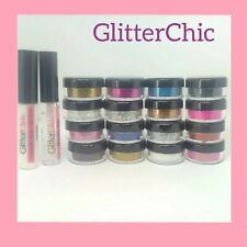16 x Pots Xmas GLITTER Eyes Eyeshadow Face Body Tattoo Nail Fix Gel Body Glue