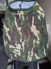 Dog Fleece Coat - Large, Camouflage