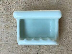 Blue Porcelain Ceramic Soap Dish Tray Cloth Holder Bar Vintage USA