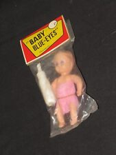 Vintage Doll Celluloid Baby Blue Eyes Hong Kong Nos (m307)