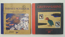 2 book lot FIRST EDITION Griffin and Sabine & Notebook, ART Romance Nick Bantock