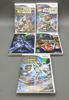 Nintendo Wii Star Wars game lot (5) - Fast Free Shipping - F19