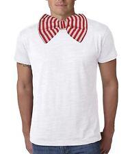 Adultos rojo y blanco Candy Stripe gigante Pajarita Payaso & circo divertido vestido de fantasía
