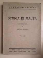 STORIA DI MALTA PREFAZIONE DI PAOLO ORANO VIVIANI 1934 ORDINE