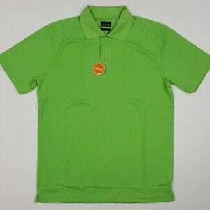 IZOD Men's Size Large Cool-FX Sun Control UPF-30 Swingflex Golf Polo Shirt Green