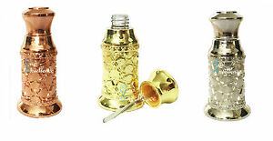 High Quality 3ml Decorative Empty Attar Bottle Oil - Gold   Silver   Rose Gold