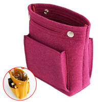 Women Felt Handbag Makeup Storage Small Insert Bag Organizer Pouch Multi Pocket