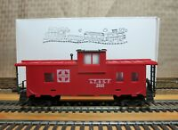 """TYCO 320L HO Scale CUSTOM MADE 8 Wheel Wide Vision """"Santa Fe"""" Caboose with KD's"""